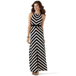 White House Black Market Mitered Maxi Dress XL